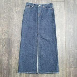 GAP Jeans Denim Long Slit Skirt - size 6